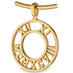 Pierced Numeros™ Medallion - 18K Yellow