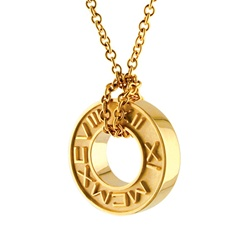 Wheel Pendant-14K Yellow or White