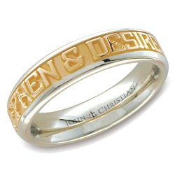Medium Two-Tone Expres™ Ring - 14K Yellow & PūrLuxium™