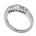 Three-Stone Expres™ Anniversary Ring - 14K White