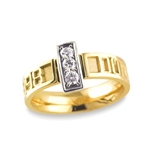 Diamond Expres™ Bridge Ring - 18K/Platinum Two-Tone