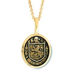Family Crest Pendant - 14K Yellow or White