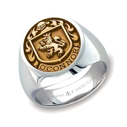 Lady's Family Crest Ring - 14K Yellow & PūrLuxium™