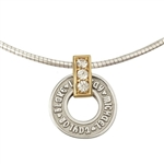 Mother's Wheel Necklace Sterling & Gold