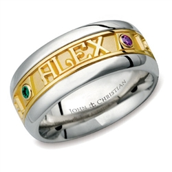 Wide Two-Tone Continuous Life™ Ring - 14K & PūrLuxium™
