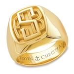 Lady's Bristol Monogram Ring - 14K Yellow or White
