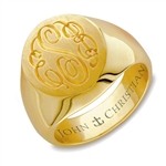 Lady's Mayfair Monogram Ring - 18K Yellow
