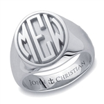Man's Sutton Monogram Ring - Platinum