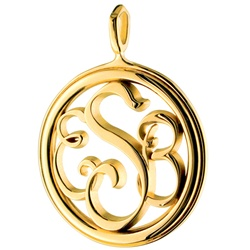 Monogram Medallion Necklace - 14K Yellow or White