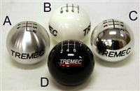 Tremec 6 Speed Brushed Aluminum Shift Knob with Standard Thread, 6BR-SX