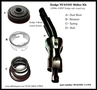 NV4500 Shifter Stub Kit, Dodge, NV4500-119B - Dodge Transmission Parts