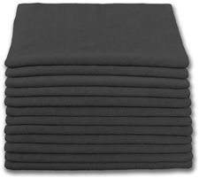 "Microfiber Cloths | 16"" x 16"" Black 