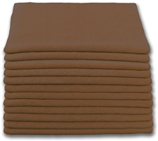 "Microfiber Cloths | 16"" x 16"" Brown 