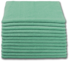 "Microfiber Cloths | 16"" x 16"" Green 