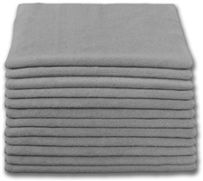 "Microfiber Cloths | 16"" x 16"" Gray 
