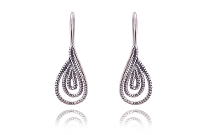MULTI-TEAR DROP ROPE EARRINGS