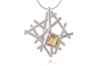 GEOMETRIC CITRINE NECKLACE