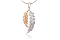 TWO-TONE LEAF NECKLACE
