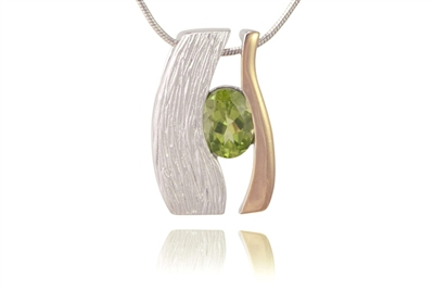 TWO-TONE PERIDOT NECKLACE