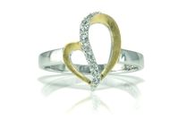 WHITE TOPAZ HEART RING