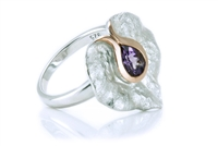 AMETHYST TEXTURED LILY RING