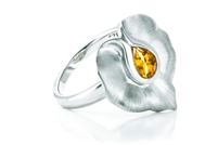 CITRINE SMOOTH LILY RING