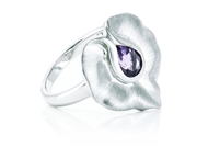 AMETHYST SMOOTH LILY RING