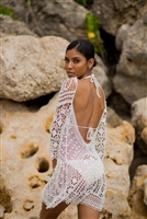 Lace Crochet Maxi Cover Up