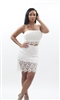 White crochet 2 piece dress