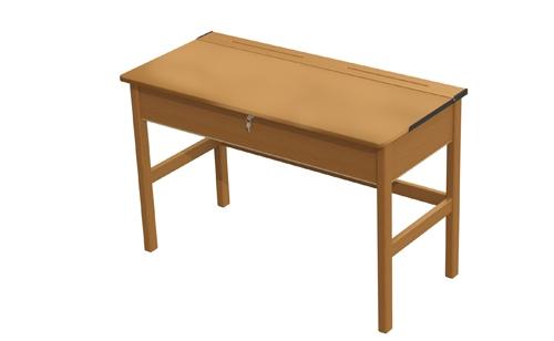 Teachers Wooden Locker Desk   Beech