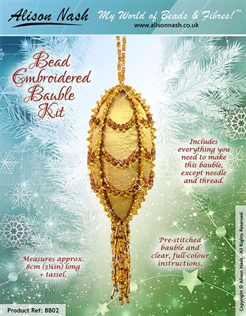 BEADING KITS > Bead Embroidered Christmas Bauble
