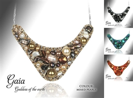 Beaded Jewellery Collar Gaia
