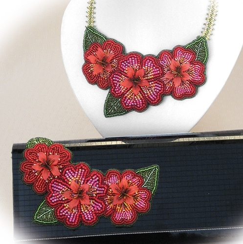 Bead Kits Floral Elegance Bead Embroidery By Alison Nash