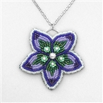 BEADING INSTRUCTIONS > Bead Embroidered Flower Pendant