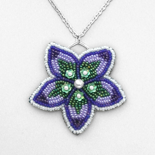 Beading Instructions Bead Embroidered Flower Pendant Instructions