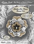 Bead Kit - Shabby Chic Flower Brooch - Black
