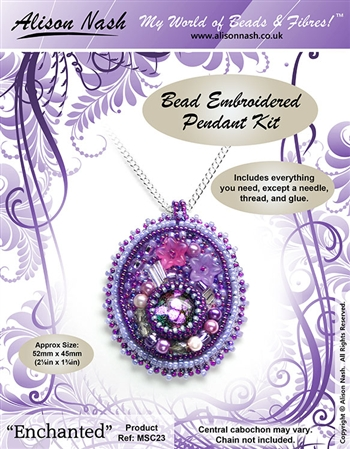 BEADING KITS > Beaded Pendant - Enchanted - Purple