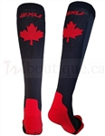 2XU Men's Performance Compression Canada Logo Run Sock