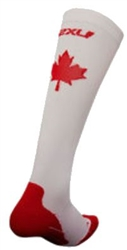 2XU Performance Compression Canada Logo Run Sock