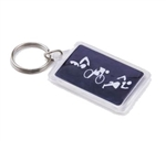 Triathlon Figures Key Chain, Black