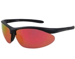 Chili's Baseline Sunglasses, Black/Yellow Mirror