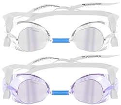 Malmsten Mirrored Swedish Swim Goggle, Jewel Collection