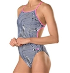 Speedo Turnz Printed Tie Back Swimsuit