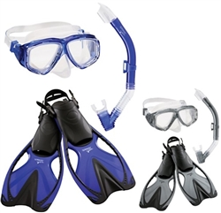 Speedo Adventure Mask Snorkel Fin Set
