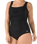 Speedo Shirred Tank One Piece Swimsuit, 7723042