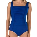 Speedo Solid End Shirred Tank Swimsuit, 7234015