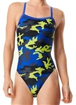 Speedo Camo Squad Flyback Swimsuit 7719834