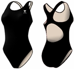 TYR Durafast Maxback Swimsuit, Black