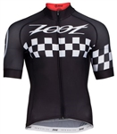 Zoot Men's Cali Cycle Jersey, Black Checker