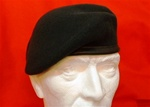 Infantry Beret Rifle Green Colour ( Leather Banded Silk Lined Very Dark Green Beret )